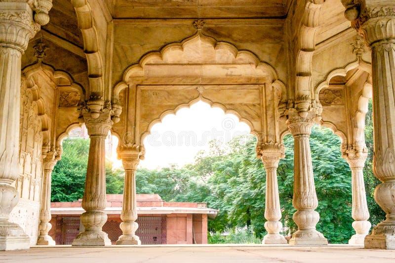 Szczegół indyjski pałac z klasycznym architecteture wysklepia fotografia royalty free