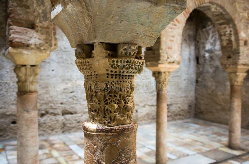 Szczegół język arabski kąpać się (El Banuelo) świron obrazy stock