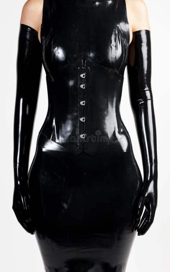 szczegół jest ubranym lateks kobieta odziewa obrazy stock