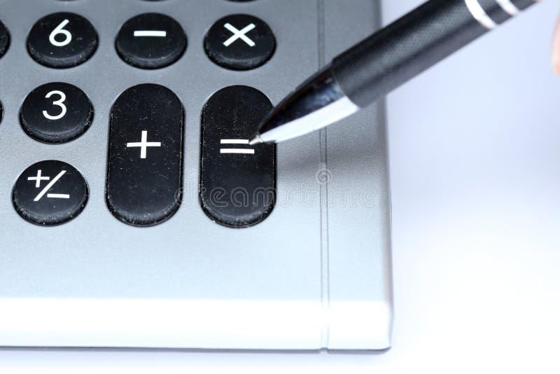 Szczegół kalkulator zdjęcia stock