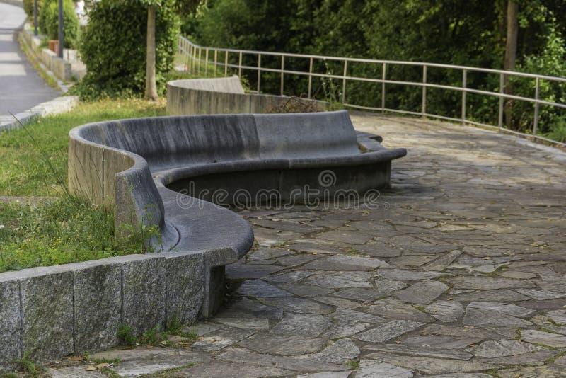 Szczegół kamienna ławka fotografia stock