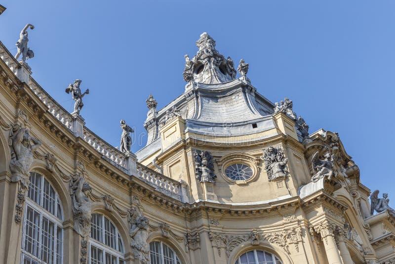 Szczegół kasztel Vajdahunyad w Budapest obrazy royalty free