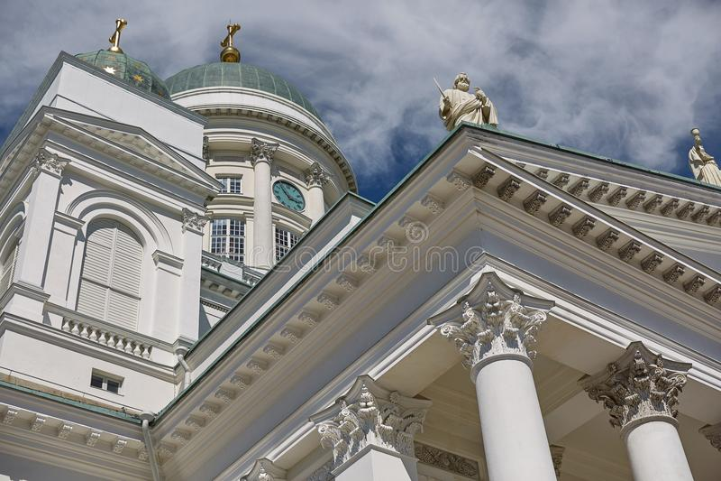 Szczegół katedra diecezja Helsinki, finnish Evangeli zdjęcie royalty free