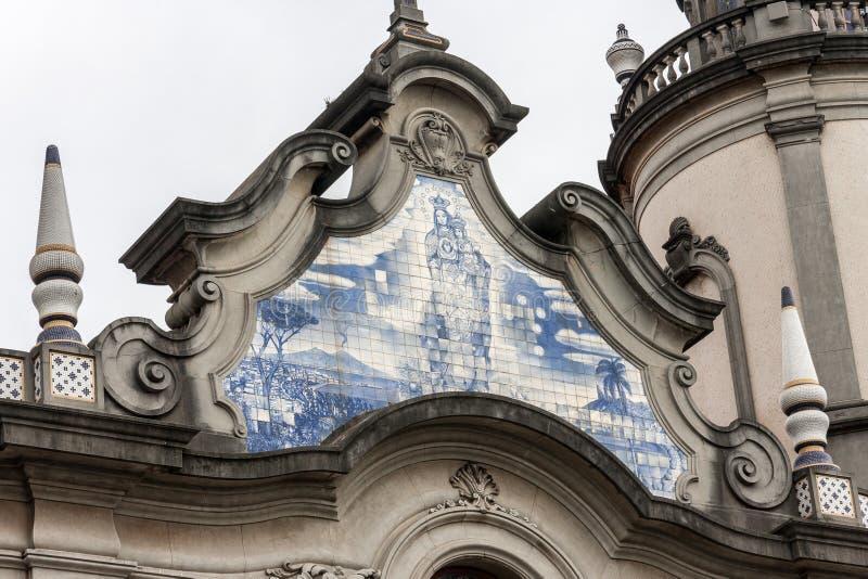 Szczegół kościół Nossa Senhora robi Brasil fotografia royalty free