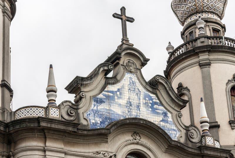 Szczegół kościół Nossa Senhora robi Brasil zdjęcie royalty free