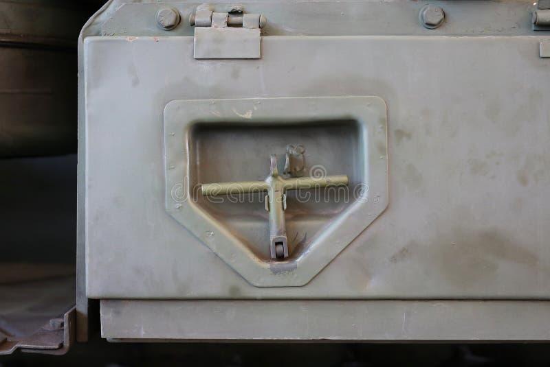 Szczegół kotwica militarny zbiornik fotografia stock