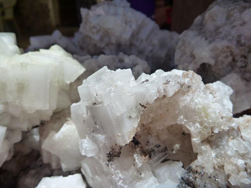 Szczegół kryształ sól zdjęcie royalty free