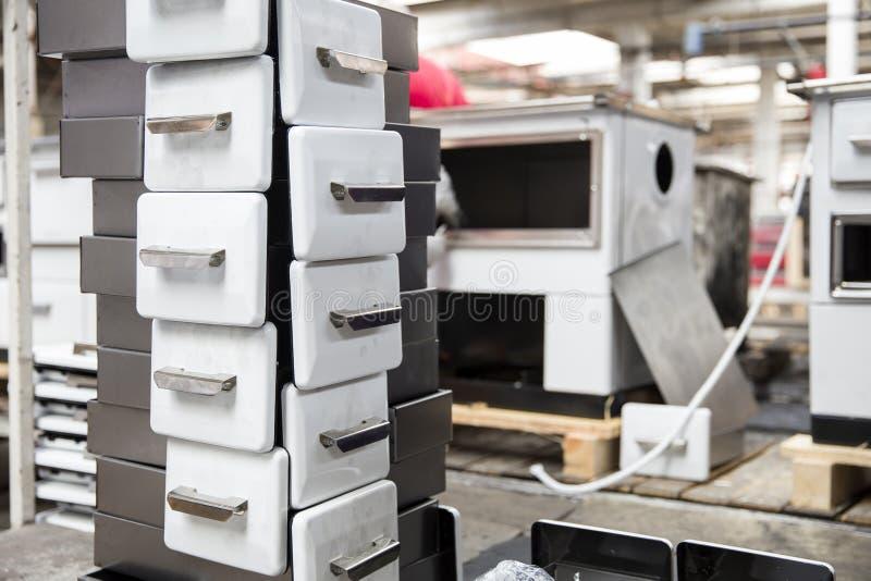 Szczegół kuchenki w fabryce zdjęcia royalty free