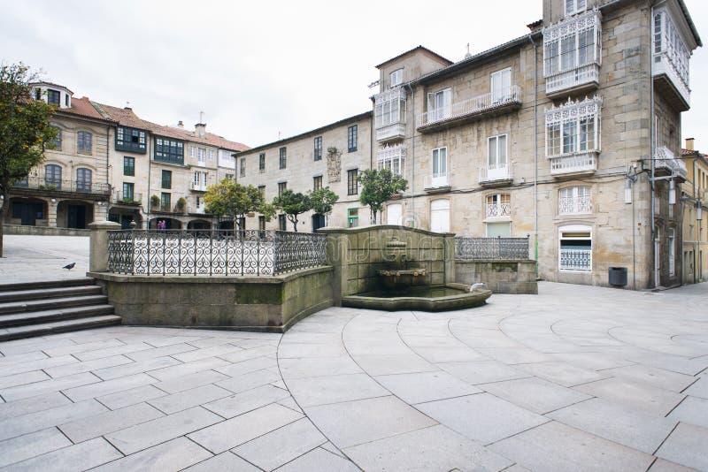 Szczegół miasto Pontevedra Hiszpania zdjęcia royalty free