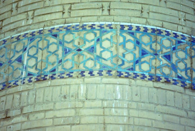 Szczegół, minaretowa dekoracja fotografia stock