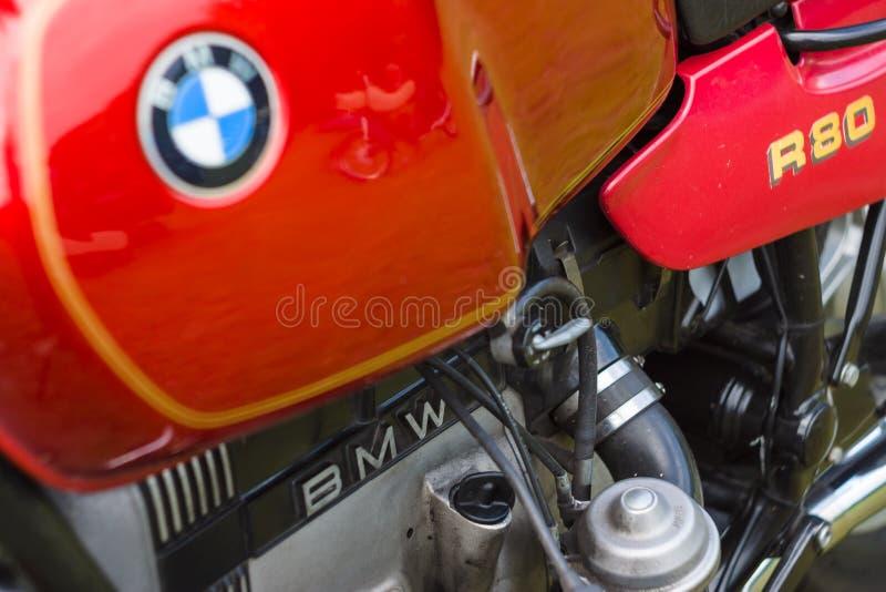 Szczegół motocykl BMW R80 zdjęcia stock