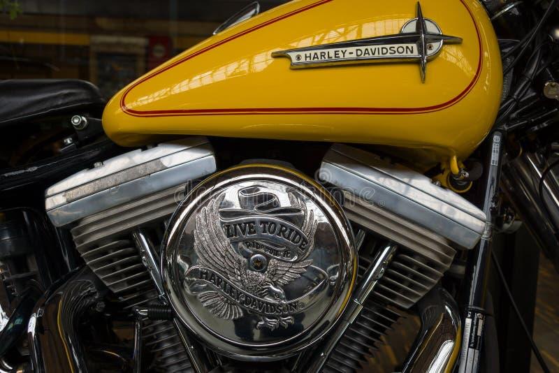Szczegół motocykl Harley-Davidson zdjęcie stock