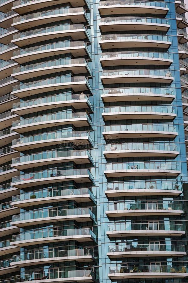 Szczegół nowożytny buidling w Dubaj, UAE obraz royalty free