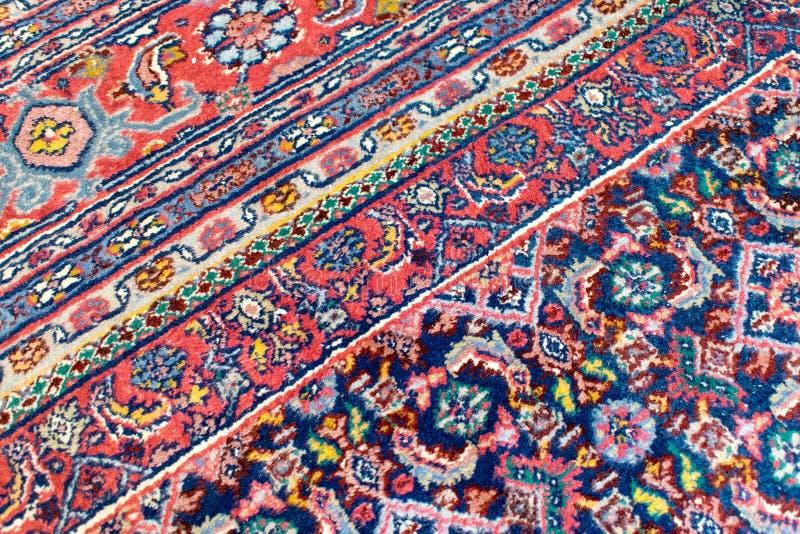 Szczegół Orientalny dywanik z diagonalnymi lampasami obraz royalty free
