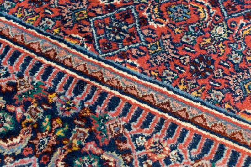 Szczegół orientalny dywanik z jeden przekątny linią obraz royalty free
