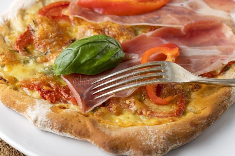 Szczegół pizza obraz royalty free