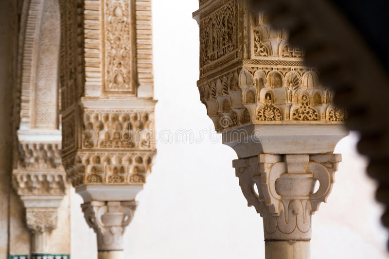 Szczegół Pozłocisty Izbowy Cuarto dorado przy Alhambra świron obrazy royalty free
