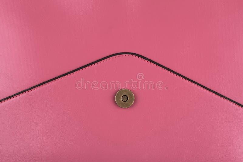 Szczegół różowa kiesa z kopertowym kształtem obrazy stock