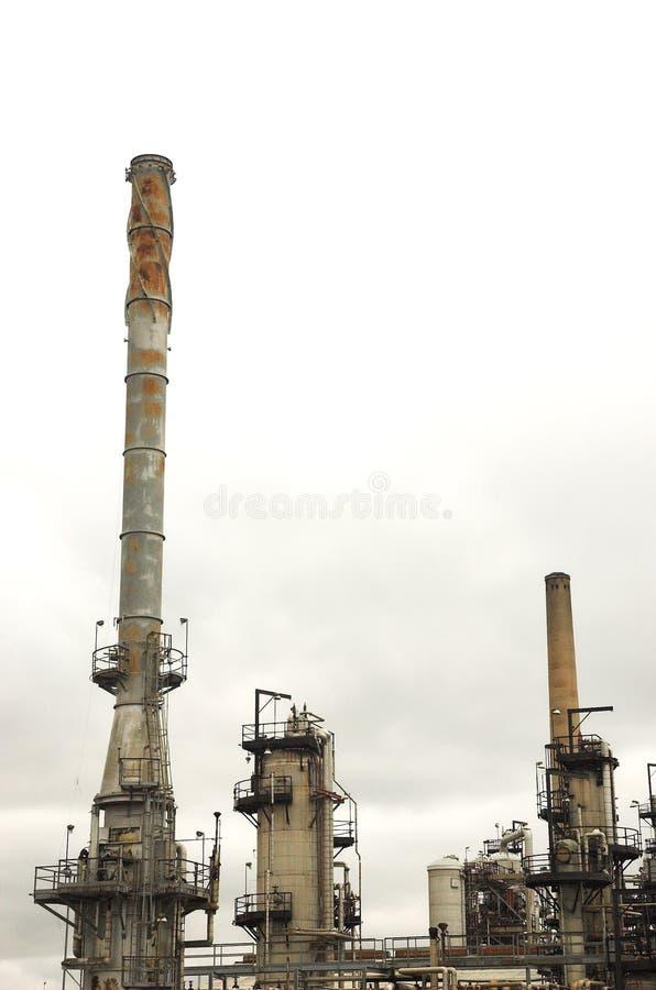 Szczegół rafineria ropy naftowej obraz stock