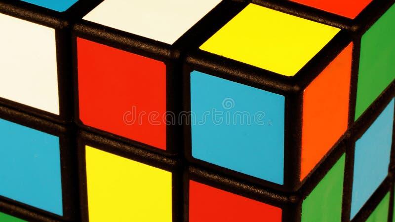 Szczegół Rubik s sześcian zdjęcie royalty free