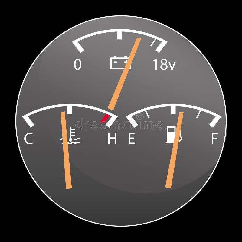 Szczegół samochodowi wymierniki ilustracja wektor
