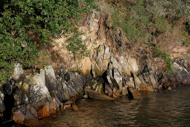 Szczegół skała formacja fotografia stock