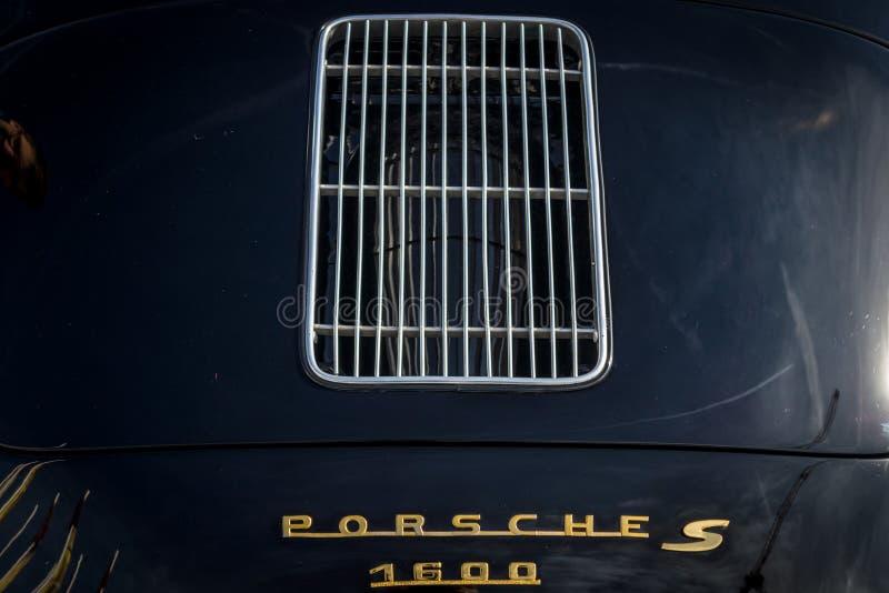 Szczegół sporta samochód Porsche 356, 1962 obraz royalty free