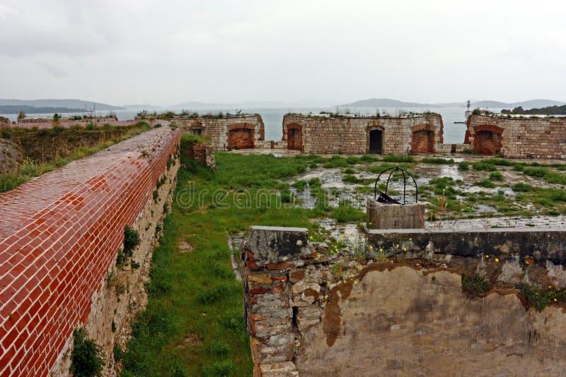 Szczegół St Nicholas forteca, Sibenik obrazy royalty free
