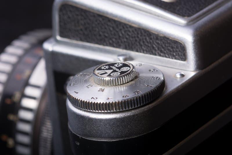 Szczegół stara analogowa fotografii kamera obrazy royalty free