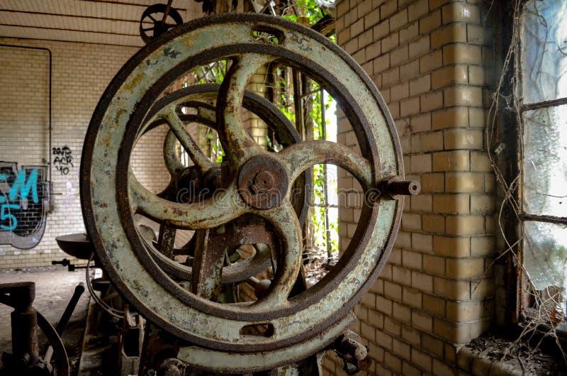 Szczegół stara przemysłu metalu manufactory maszyna zdjęcie royalty free