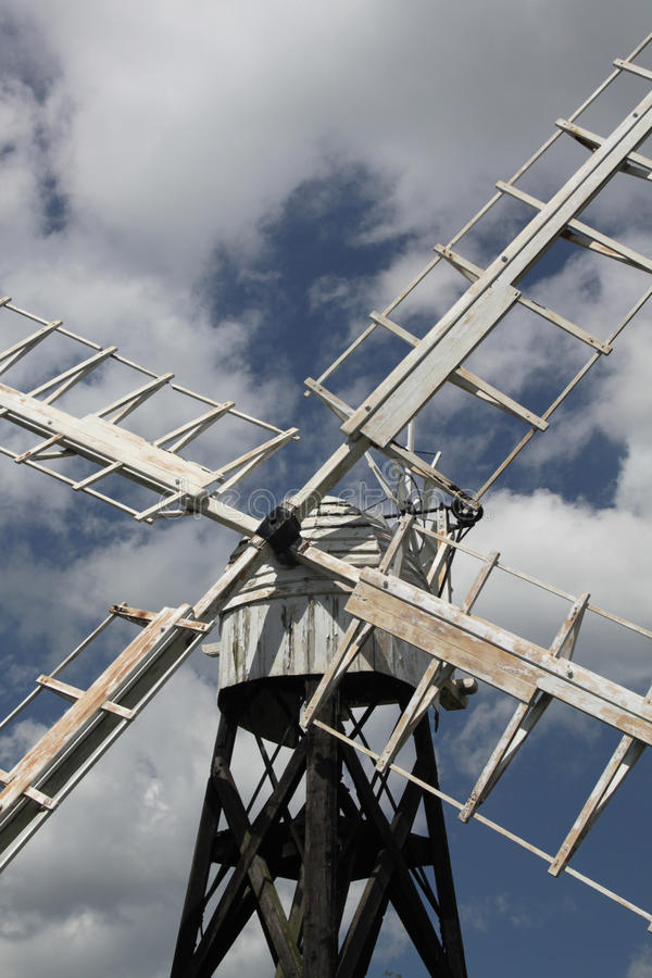 Szczegół stary wiatraczek, Norfolk Broads fotografia stock