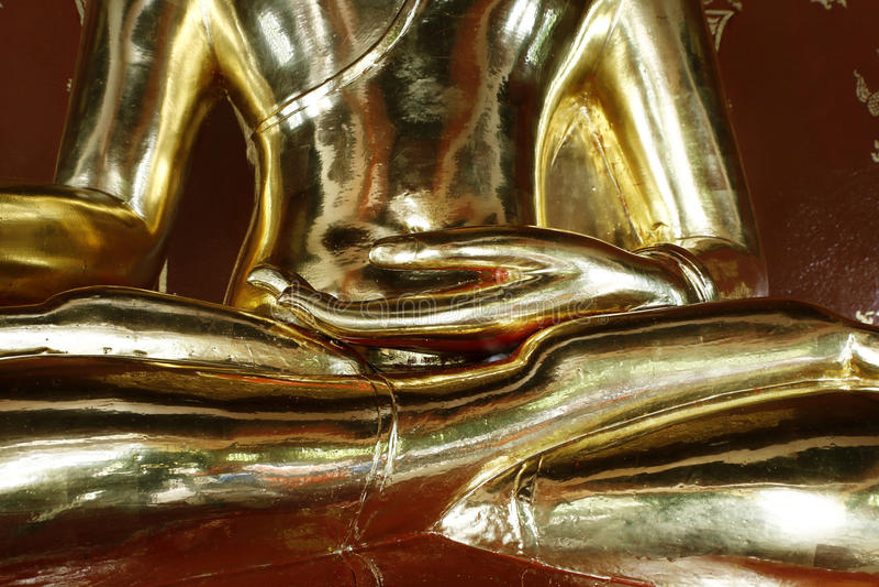 Szczegół statua Buddha fotografia stock