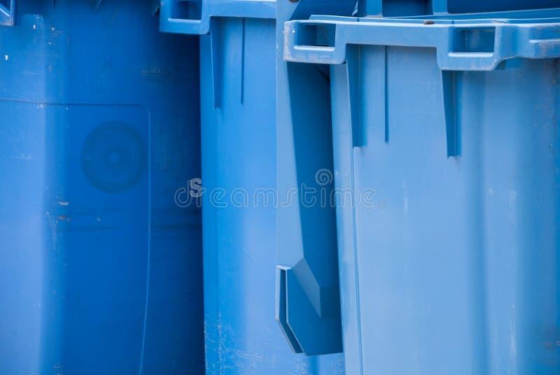 Szczegół strzelający błękitny śmieci obraz royalty free