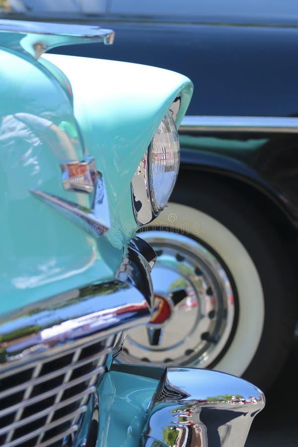 Szczegół Strzelający od rocznika car show zdjęcia stock