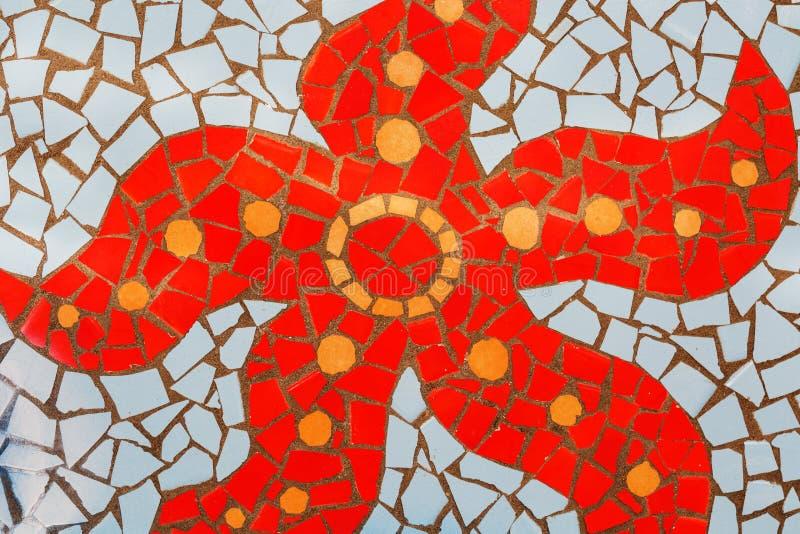 Szczegół stubarwna szklana mozaika obrazy stock