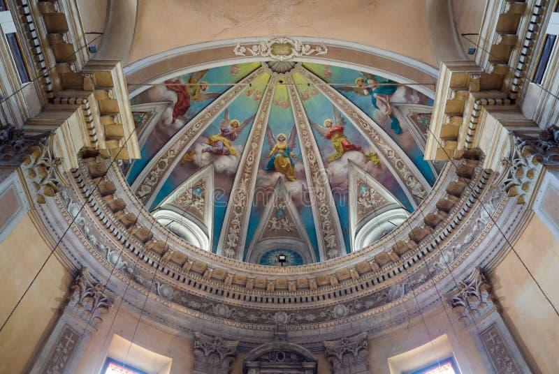 Szczegół sufit kaplica z malującymi aniołami zdjęcie royalty free