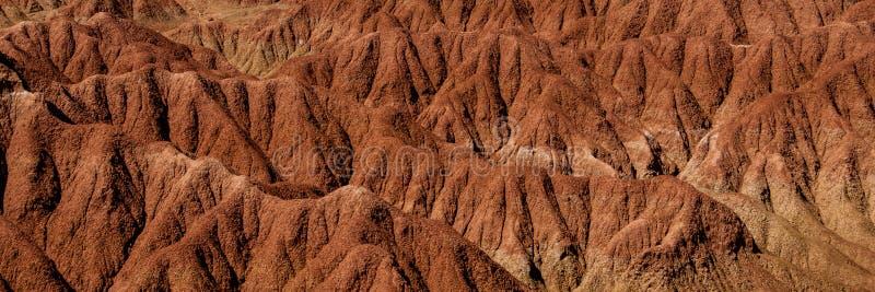 Szczegół susza piaska kamienia czerwona pomarańczowa skała fotografia stock