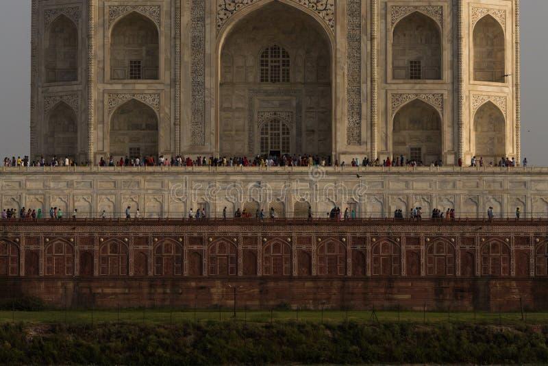 Szczegół Taj Mahal od Mehtab Bagh obraz stock