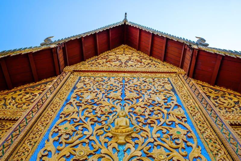 Szczegół Tajlandzka świątyni ściana zdjęcia stock