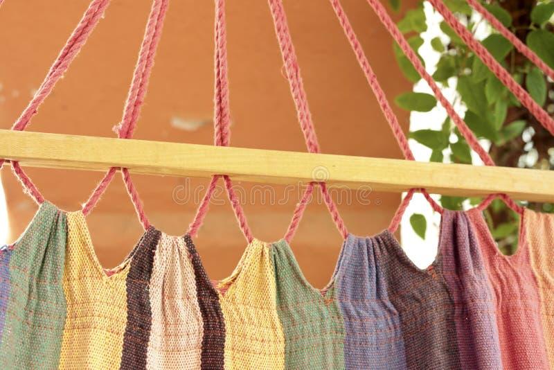 Szczegół tkanina hamak zdjęcie stock