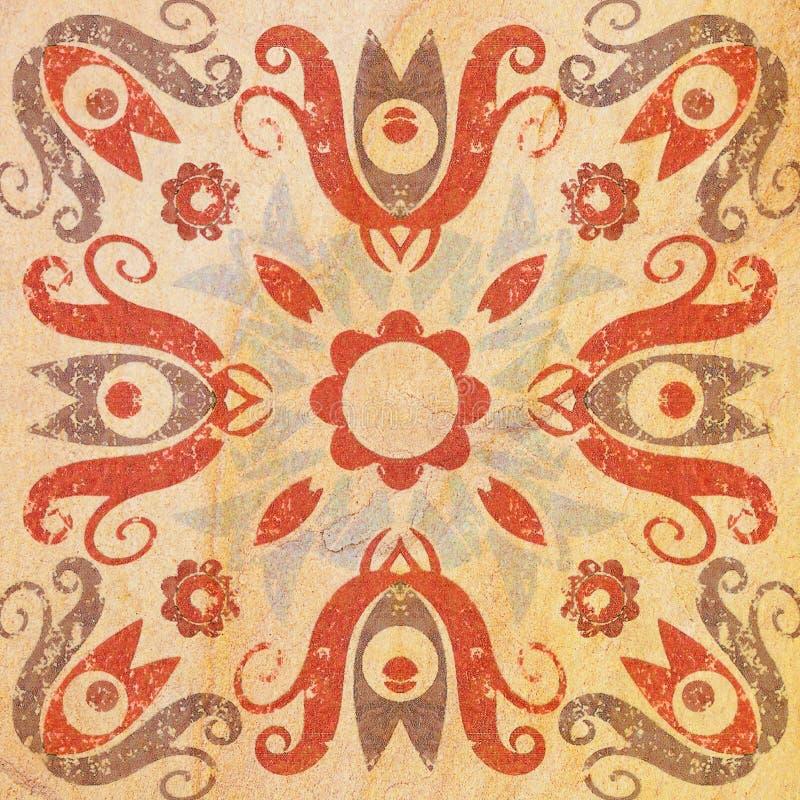 Szczegół tradycyjne Dekoracyjne płytki zdjęcie royalty free