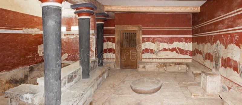 Szczegół Tronowy pokój przy Knossos pałac obrazy royalty free
