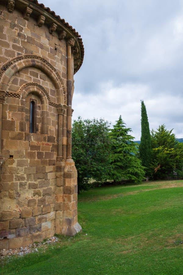 Szczegół Uczelniany kościół San Martin De Elines twelfth wiek zdjęcie royalty free
