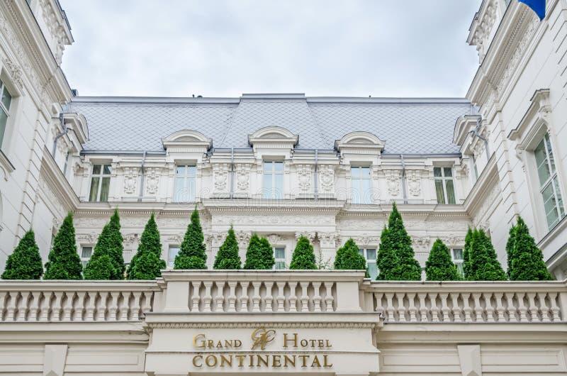 Szczegół Uroczysty Hotelowy Kontynentalny budynek fotografia stock
