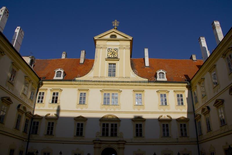 Szczegół Valtice pałac w Południowym Moravia fotografia stock