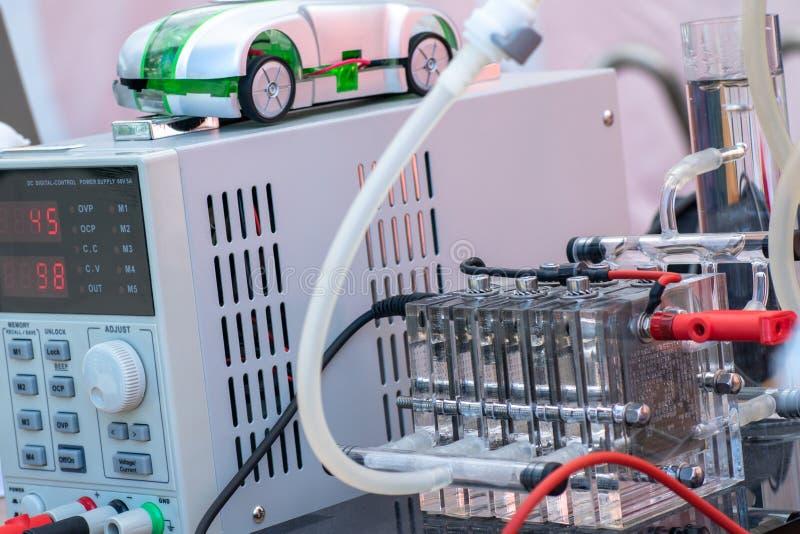 Szczegół wodorowi ogniwa paliwowe i czysty źródło energii - alternatywni obrazy royalty free