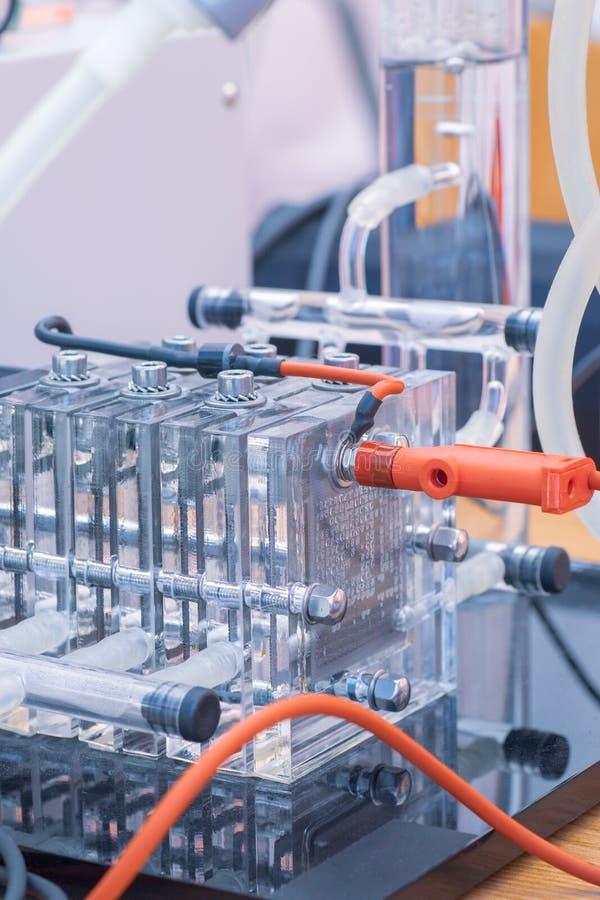 Szczegół wodorowi ogniwa paliwowe i czysty źródło energii - alternatywni pojęcie nowa technologia zdjęcia royalty free