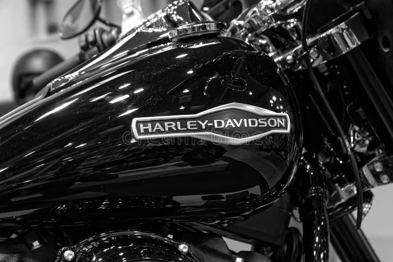 Szczegółowa część chromowany legendarny Harley Davidson obraz royalty free