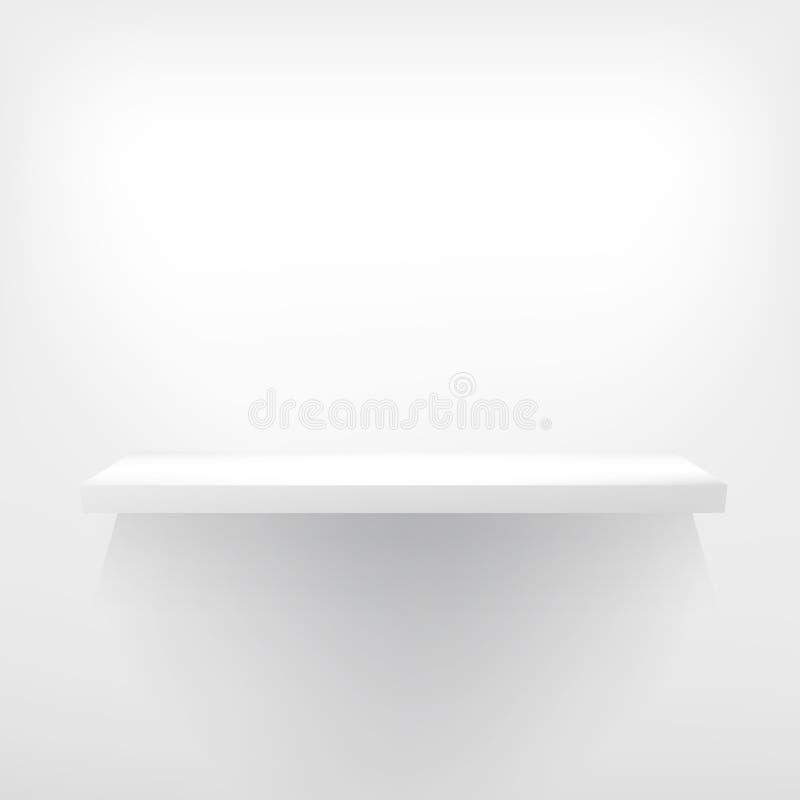 Szczegółowa ilustracja białe półki. ilustracja wektor