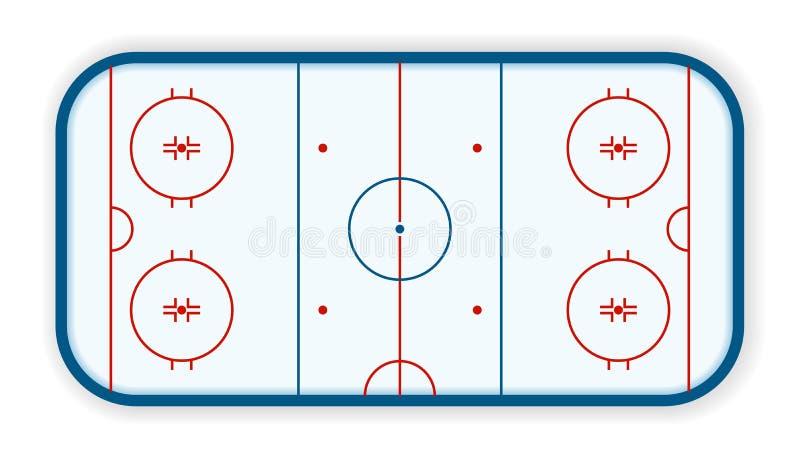 Szczegółowa ilustracja icehockey lodowisko, pole, sąd, eps10 wektor royalty ilustracja